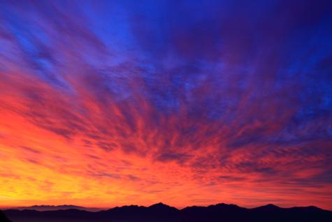 黎明の南アルプス