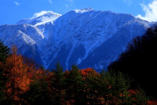 新雪の仙丈ヶ岳