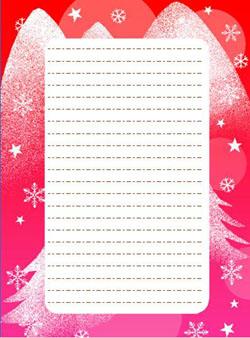 クリスマスの便箋