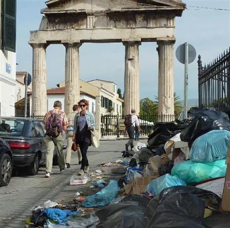 ギリシャ・ゴミ