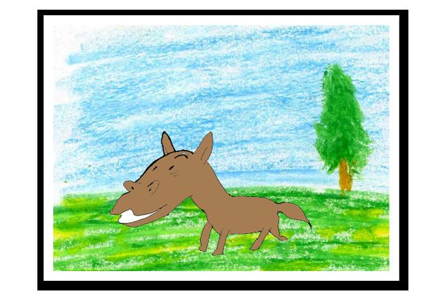 草原を走る馬・・・