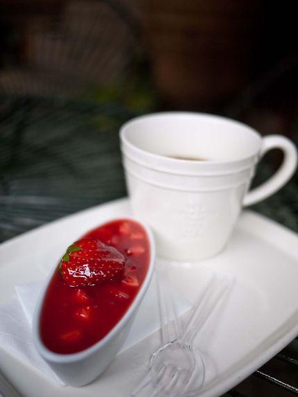 ぬくもりの森 中庭カフェの珈琲