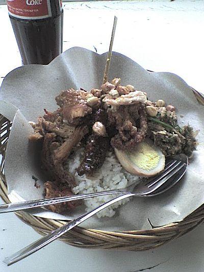 nasi-chample in Ubud