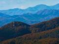 西北の山並み