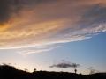 大橋から見た青葉山夕空