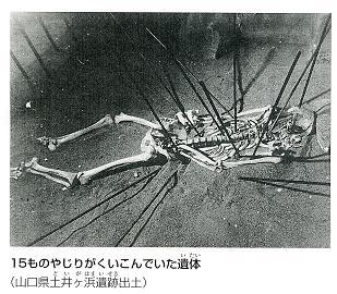 15本の鏃が刺さった人骨
