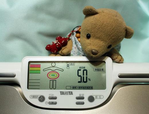 23日の体脂肪率