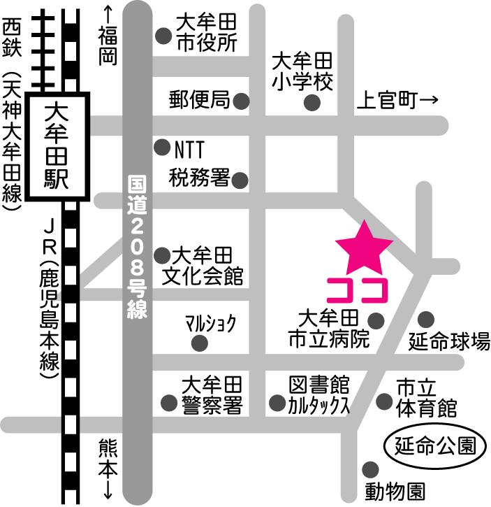 大牟田会場地図