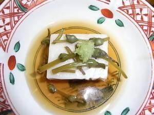 059神無月の献立 ピーナツ豆腐
