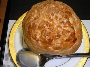 066神無月の献立 クリームスープのパイ包み