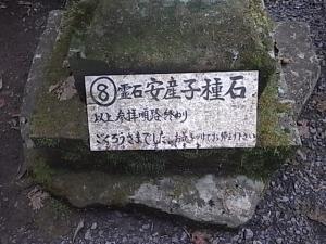 111滝尾神社・安産子種石