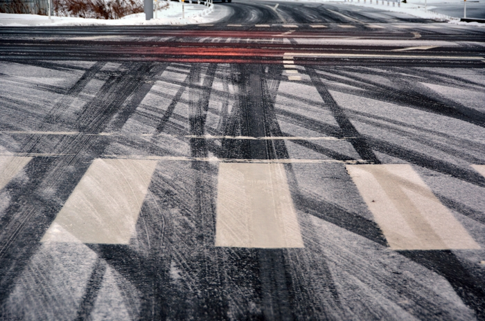 朝の通勤路 雪-1