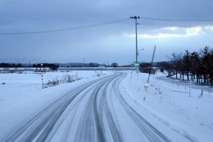 朝の通勤路 雪-2