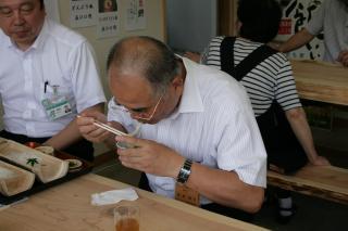 秀島市長昼食中