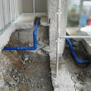 給水管工事後