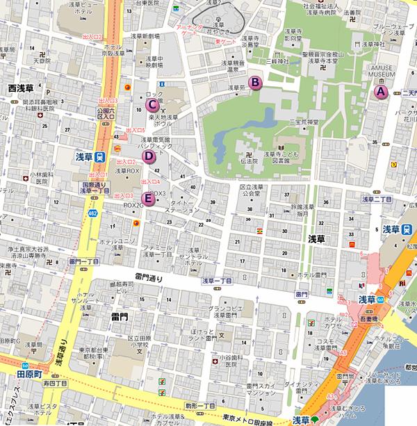浅草大道芸MAP