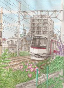 毎日をスケッチ-東横線