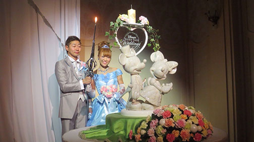 ミッキー ミニーブーケ ディズニー結婚式 かわいいブーケ