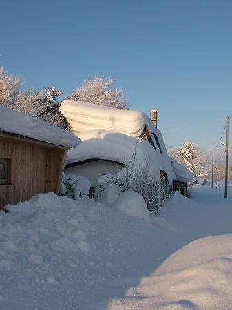 後ろの廃屋と我が家北側