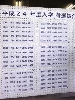 熊野高校合格発表!!