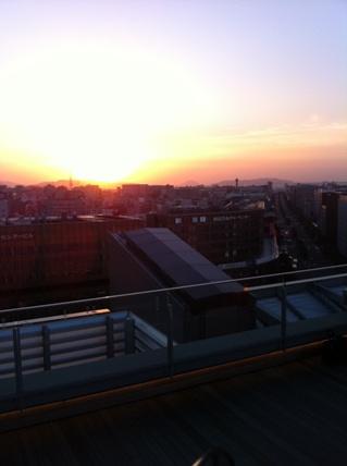 博多の夕日