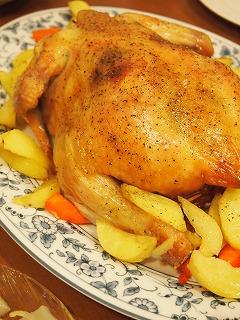 丸鶏のオーブン焼き!