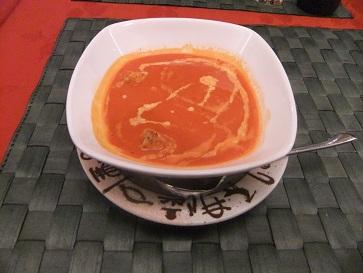 トマトとクリームスープ
