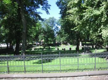 散歩した墓地