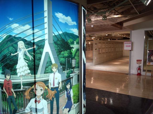 万代エリアはアニメ、マンガ関連の展示がズラリ!