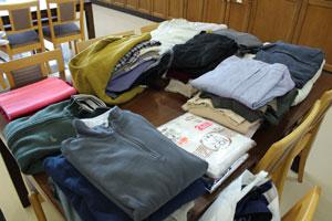 2014年10月18日衣類寄付2