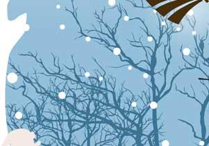 イラスト 楽しいクリスマスと良いお正月を