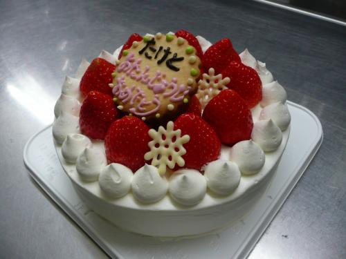 苺のバースデーケーキ②