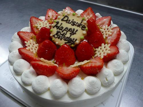 苺のバースデーケーキ④