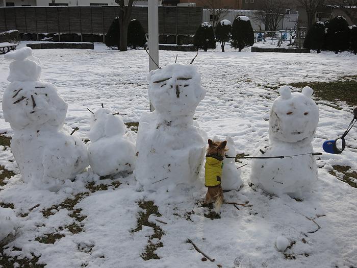 十五島公園 雪だるま 茶太郎