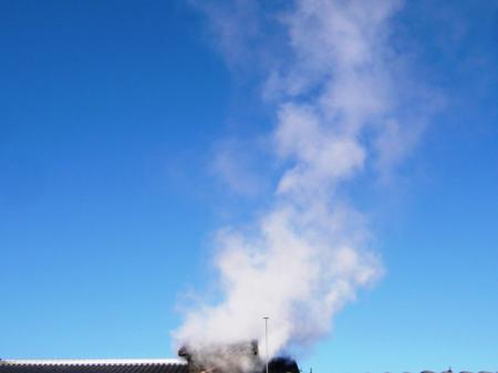 蒸しの蒸気