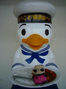 横須賀駅のスカレーとモコちゃん