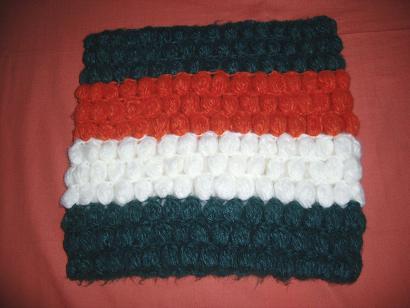 輪っかマフラー緑xオレンジ2