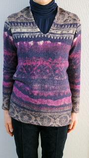 手作りセーター前