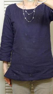 紫ブラウス