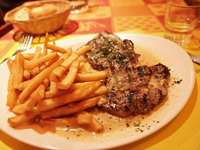 ステーキのエポワスソース
