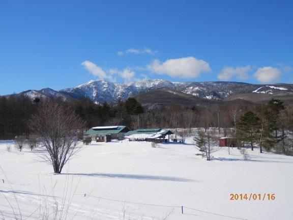冬のバラギ高原キャンプ場
