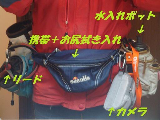 お散歩用ウエストバッグのアップ