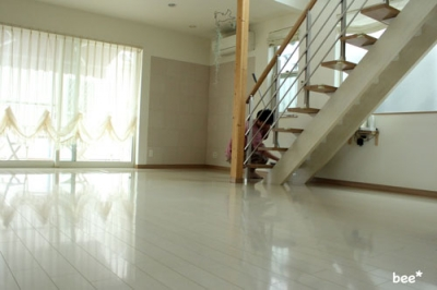 床の大掃除