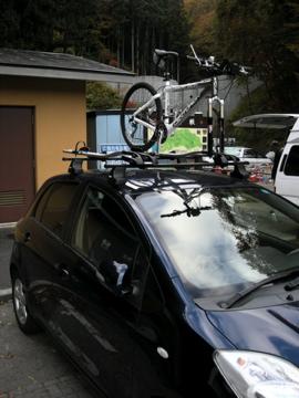 紅葉サイクリング(安ヶ森林道)1