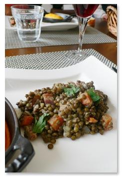 リヨン料理,レンズ豆のサラダ