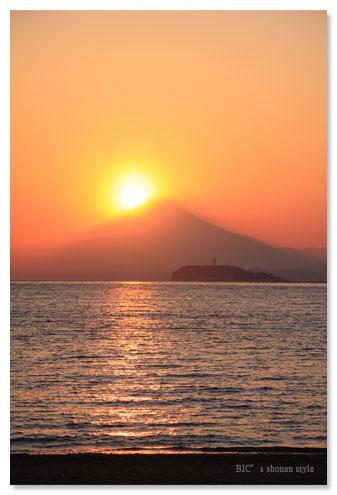 ダイヤモンド富士,逗子海岸