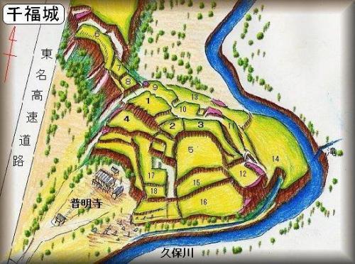 千福城址縄張り図