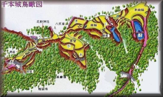 千本j城縄張り図
