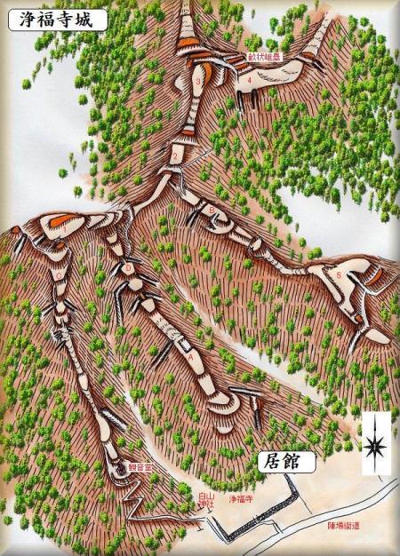 浄福寺城祉縄張り図