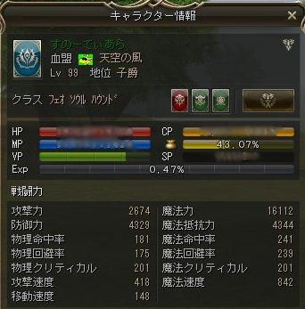 10/22 バフなしステータス
